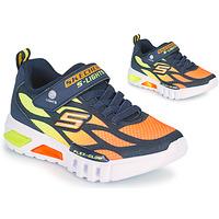 Zapatos Niño Zapatillas bajas Skechers FLEX-GLOW Marino / Naranja