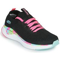 Zapatos Niña Zapatillas bajas Skechers SOLAR FUSE Negro / Rosa