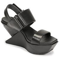 Zapatos Mujer Sandalias United nude DELTA WEDGE Negro