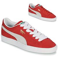 Zapatos Zapatillas bajas Puma SUEDE Rojo