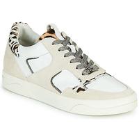 Zapatos Mujer Zapatillas bajas Mam'Zelle ARTIX Blanco / Leopardo