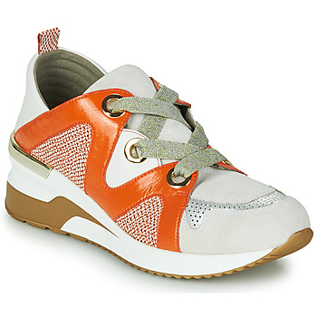 Zapatos Mujer Zapatillas bajas Mam'Zelle VELODE Beige / Naranja