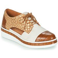 Zapatos Mujer Derbie Mam'Zelle KIGALI Blanco / Marrón
