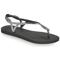 Zapatos Mujer Chanclas Havaianas LUNA PREMIUM II Negro / Gris