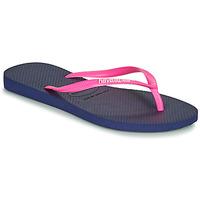 Zapatos Mujer Chanclas Havaianas SLIM LOGO Marino