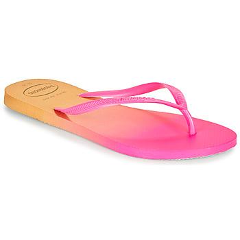 Zapatos Mujer Chanclas Havaianas SLIM GRADIENT Rosa / Amarillo