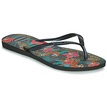 Zapatos Mujer Chanclas Havaianas SLIM TROPICAL Negro / Gris