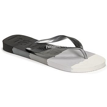 Zapatos Chanclas Havaianas TOP LOGOMANIA MULTICOLOR Negro