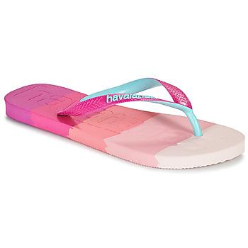 Zapatos Mujer Chanclas Havaianas TOP LOGOMANIA MULTICOLOR Rosa