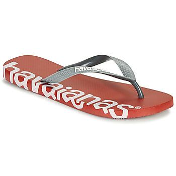 Zapatos Chanclas Havaianas TOP LOGOMANIA HIGHTECH Rojo