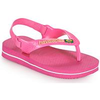 Zapatos Niña Chanclas Havaianas BABY BRASIL LOGO II Rosa