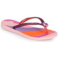 Zapatos Niña Chanclas Havaianas KIDS SLIM GLITTER II Rosa