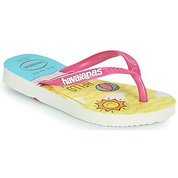 Zapatos Niña Chanclas Havaianas KIDS SLIM HELLO KITTY Blanco