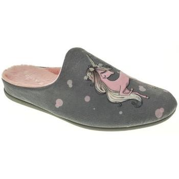 Zapatos Niña Pantuflas Garzon ZAPATILLAS NIÑA  GRIS Gris