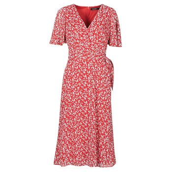 textil Mujer Vestidos largos Lauren Ralph Lauren ABEL Rojo
