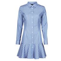 textil Mujer Vestidos cortos Lauren Ralph Lauren TRIELLA Azul / Blanco