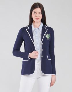 textil Mujer Chaquetas / Americana Lauren Ralph Lauren AYELEE Azul / Blanco