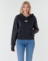 textil Mujer Sudaderas Vans WM OVAL TEEN HOODIE Negro