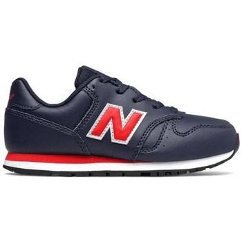 Zapatos Niño Zapatillas bajas New Balance 373 Negros, Rojos
