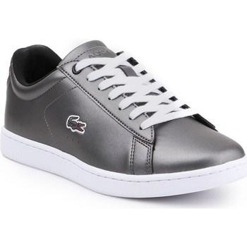 Zapatos Mujer Zapatillas bajas Lacoste Carnaby Evo 317 Plateado