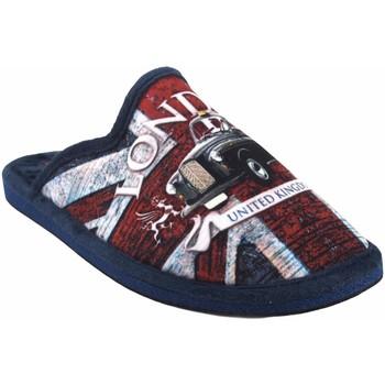 Zapatos Hombre Pantuflas Gema Garcia Ir por casa caballero  2301-1 az.roj Rojo