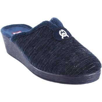 Zapatos Mujer Pantuflas Gema Garcia Ir por casa señora  7114-2 azul Azul