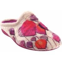 Zapatos Mujer Pantuflas Gema Garcia Ir por casa señora  7100-74 beig Rojo