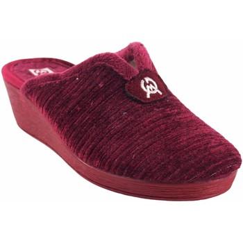 Zapatos Mujer Pantuflas Gema Garcia Ir por casa señora  7114-2 burdeos Rojo