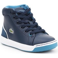 Zapatos Niños Zapatillas altas Lacoste Explorateur Lace Azul marino