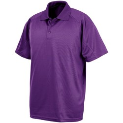 textil Polos manga corta Spiro SR288 Púrpura