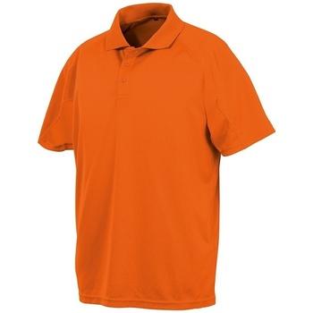 textil Polos manga corta Spiro SR288 Naranja Flo