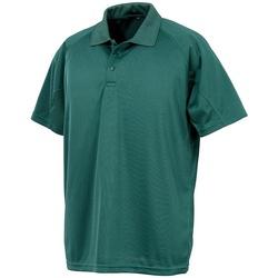 textil Polos manga corta Spiro SR288 Verde Botella