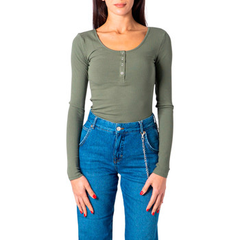 textil Mujer Camisetas manga larga Pieces 17101437 Verde
