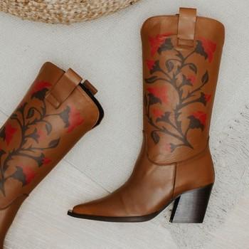 Zapatos Mujer Botas urbanas Vienty Bota piel caramelo GIVEN Marrón