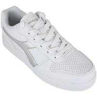 Zapatos Niña Zapatillas bajas Diadora playground gs girl c0516 Plata