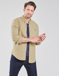textil Hombre Camisas manga larga Polo Ralph Lauren CHEMISE CINTREE SLIM FIT EN OXFORD LEGER TYPE CHINO COL BOUTONNE Beige
