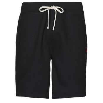 textil Hombre Shorts / Bermudas Polo Ralph Lauren SHORT MOLTONE EN COTON LOGO PONY PLAYER Negro