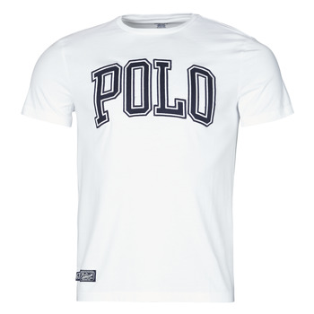textil Hombre Camisetas manga corta Polo Ralph Lauren T-SHIRT COL ROND INSCRIPTION POLO EN COTON Blanco