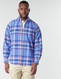 textil Hombre Camisas manga larga Polo Ralph Lauren CHEMISE AJUSTEE EN OXFORD COL BOUTONNE  LOGO PONY PLAYER MULTICO Multicolor