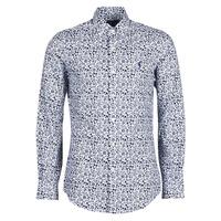 textil Hombre Camisas manga larga Polo Ralph Lauren CHEMISE CINTREE SLIM FIT EN POPLINE DE COTON COL BOUTONNE LOGO P Azul