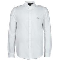 textil Hombre Camisas manga larga Polo Ralph Lauren COPOLO Blanco