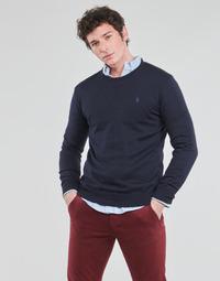 textil Hombre Jerséis Polo Ralph Lauren PULL COL ROND AJUSTE EN COTON PIMA LOGO PONY PLAYER Azul