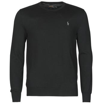 textil Hombre Jerséis Polo Ralph Lauren PULL COL ROND AJUSTE EN COTON PIMA LOGO PONY PLAYER Negro