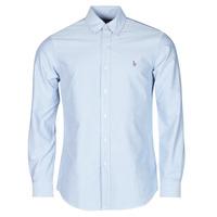 textil Hombre Camisas manga larga Polo Ralph Lauren LORENZ Azul
