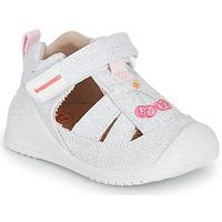 Zapatos Niña Sandalias Biomecanics 212213 Plata / Blanco