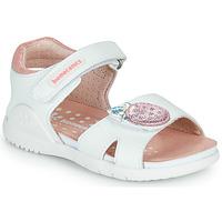 Zapatos Niña Sandalias Biomecanics 212163 Blanco / Rosa