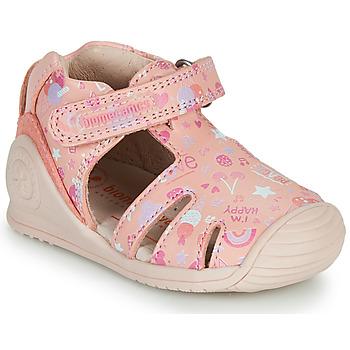 Zapatos Niña Sandalias Biomecanics 212107 Rosa