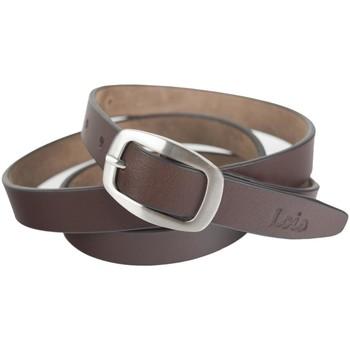 Accesorios textil Cinturones Lois Cinturón unisex de piel genuina de la firma Marron