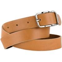Accesorios textil Cinturones Jaslen Cinturón unisex de piel genuina de la firma Negro