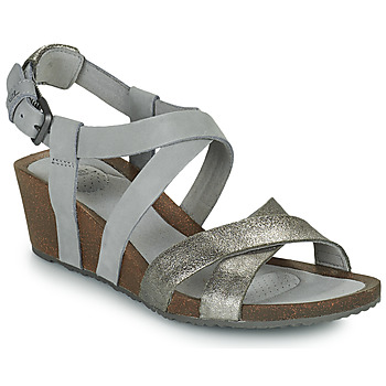Zapatos Mujer Sandalias Teva MAHONIA WEDGE CROSS STRAP ML Gris / Metal